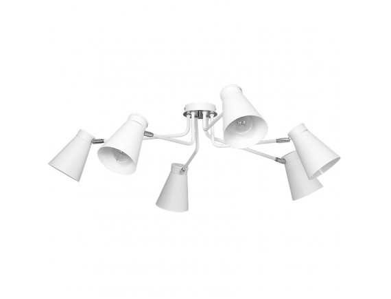 Lustra plafon Bevan white 6 5028
