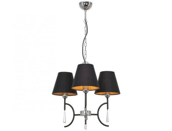 Lustra candelabru ELLICE black III zwis 4503