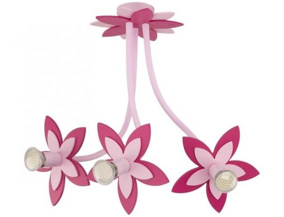 Lustra plafon FLOWERS  PINK III zwis 6894