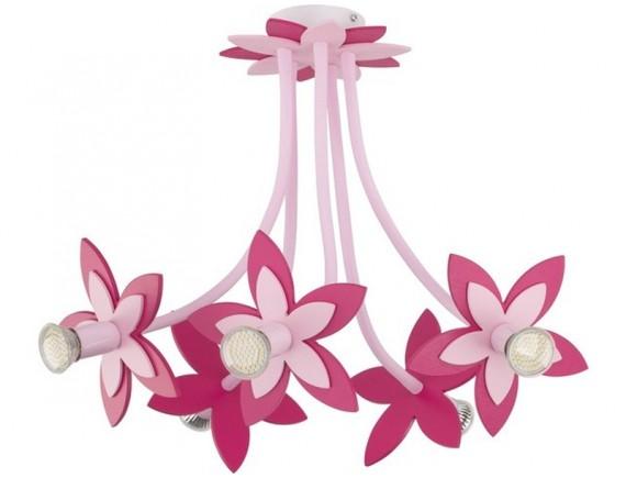 Lustra plafon FLOWERS PINK V plafon 6896