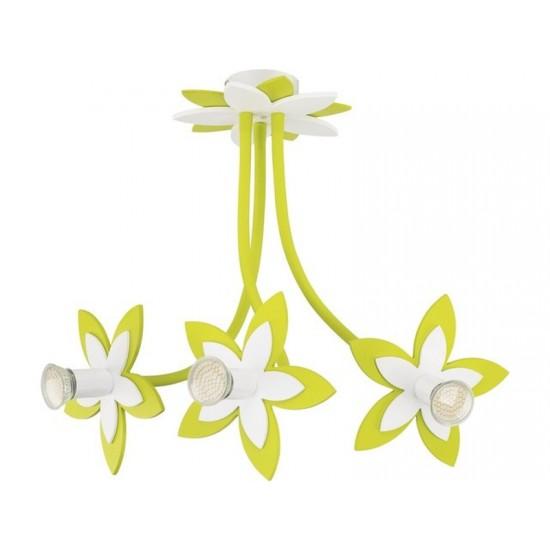 Lustra plafon FLOWERS  GREEN III zwis 6898 (6898) www.lightingstore.ro
