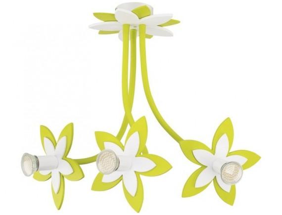 Lustra plafon FLOWERS  GREEN III zwis 6898